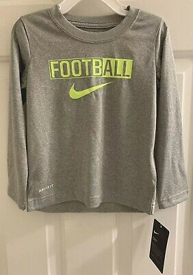 NEW WITH TAGS Toddler Little Boys Nike Football Longsleeve DriFit Tshirt - 4T