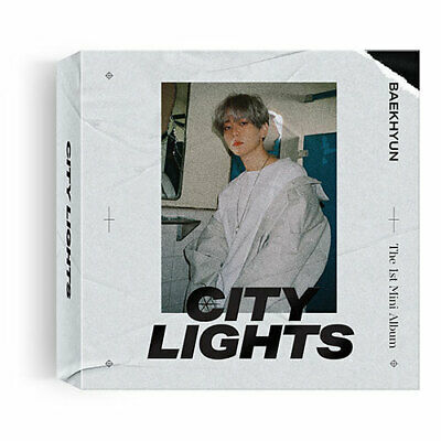 "SJmusic [BAEKHYUN] 1st Mini Album ""City Lights""  KIHNO+POSTER, SEALED"