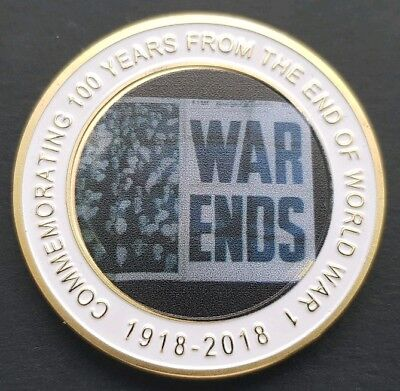 LEST WE FORGET The End Of World War 1 Challenge Coin FREE COIN STAND AND BRAND v