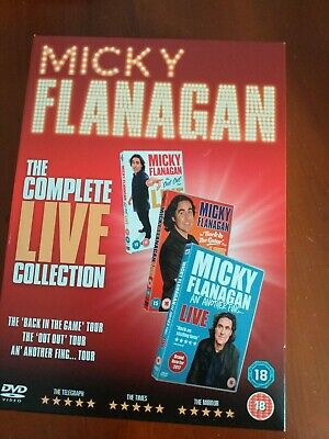 Micky Flanagan The Complete Live Collection (2017) DVD 3 disc set new sealed