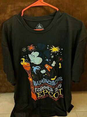 Disney Shirt EPCOT Farewell To Illuminations Adult Mickey Mouse Sizes XL L M S