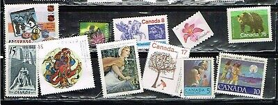(11-635) 10 Assorted Uncancelled  Postage  sTamps from Canada