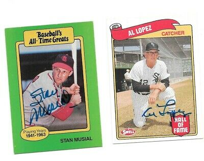 Stan Musial Baseballs All Time Greats St Louis Cardinals signed Baseball card