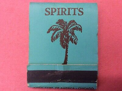 Vintage 1950's VERY RARE SPIRITS Restaurant Palm Springs Ca. Matchbook.