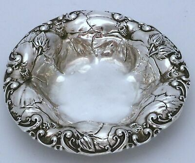 Whiting Art Nouveau Hibiscus Sterling Silver Bowl