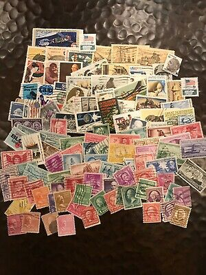 Lot 500 ALL DIFFERENT Used US Postage Stamps off paper