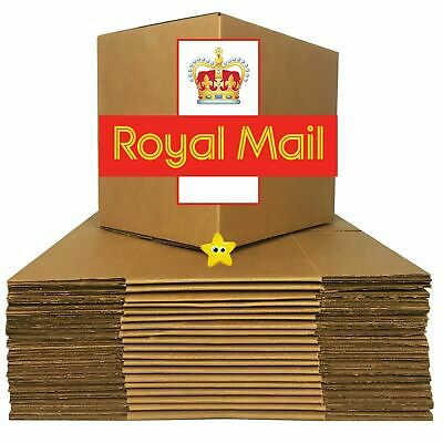 Brown Shipping Cardboard Boxes Postal Mailing Gift Packet Small Parcel Packaging