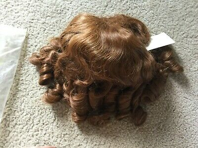 Doll Wig Size 18 Style M-120 Color 27 Auburn Brown NOS IMSCO Bangs Ringlets