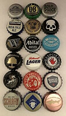 Lot Of 18 Beer Caps-No Dents (Mostly Craft)
