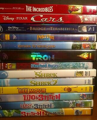 Disney and DreamWorks DVD Lot of more than 40 DVDs