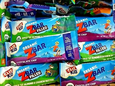 65 Clif Kid Organic Z Bar Whole Grain Baked Energy Lunch Bag Snack Bars Free S/H