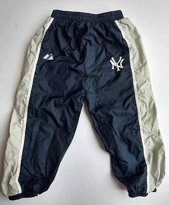 Majestic NY New York Yankees 24m Baby Boy Track Pants Navy Blue Athletic MLB