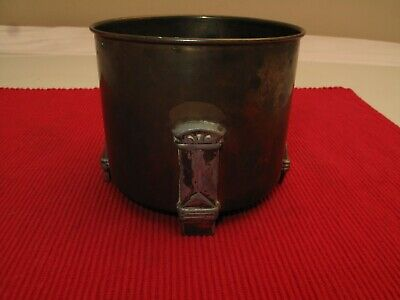 Antique Arts & Crafts Bradley & Hubbard Metal Jar Humidor B & H Vtg Roycroft Era