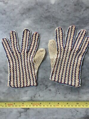 Vintage Cotton Hand Made Lace Gloves