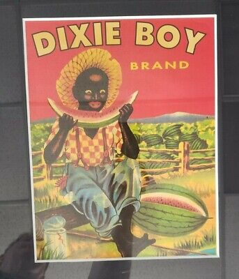 "L👀K Black Americana Dixie Boy Brand Poster Beautifully Framed 17"" x 21"""