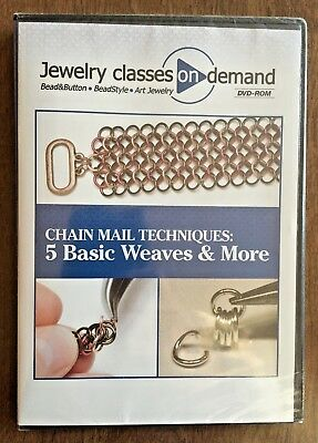 Jewelry Classes On Demand DVD Chain Mail Techniques Chainmaille Weaves Kalmbach