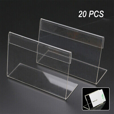 2bf624be276df AIRGOESIN 20PCS ACRYLIC Sign Display Holder Price Name Card Label ...