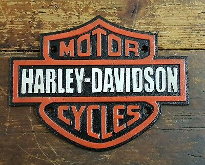 Harley Davidson Sign Plaque **Solid Cash Iron** Great for man cave!