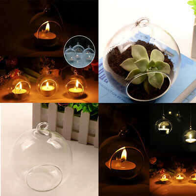 Crystal Glass Hanging Candle Holder Wedding Candlestick Decorations Home