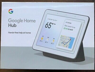 "New Google Home Hub Black Charcoal Google Assistant Nest Smart 7"" Display Voice"