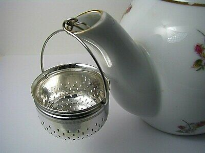 SILVER PLATED TEA STRAINER TEAPOT SPOUT STRAINER Gorham Mfg. or Derby Co. c1900s