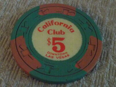 CALIFORNIA CLUB HOTEL CASINO $5 hotel casino gaming chip ~ Las Vegas, NV