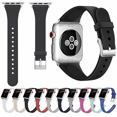 Silicona Pulsera Correa Band para Apple Watch iWatch Series 4/3/2/1 38 40 42 44