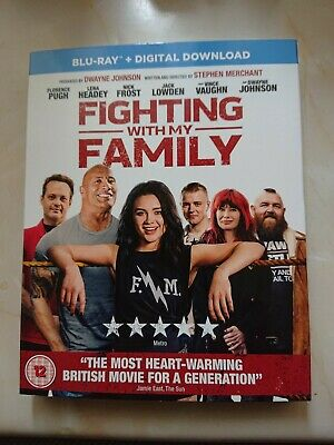 Fighting With My Family Blu Ray +Digital Download Brand New And Sealed