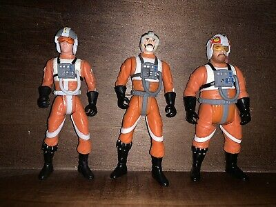 Star Wars Power of the Force Rebel Pilots. Wedge, Perkins & Biggs. Loose.