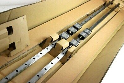 Thk - SSR20 2x Linear Guide 3000 mm SSR20WXW3SSHHC1E +3000LH with 6 x Trolley