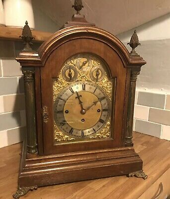 Triple Chain Driven Fusee Musical 8 Bell one Gong quarter-chiming Bracket Clock