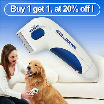 Safe Electric Flea Comb Dogs&Cats Pet Head Lice Killer Anti Tick HY