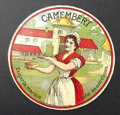 Etiquette fromage CAMEMBERT Exiger la marque cheese label 10
