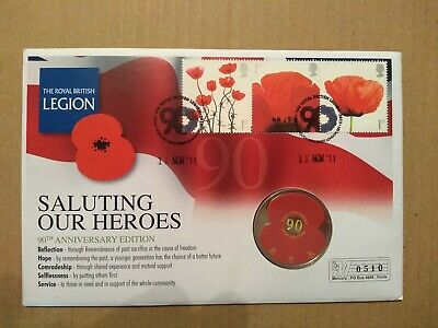 2011 Jersey £5 Poppy Coin Cover Lest We Forget Royal British Legion