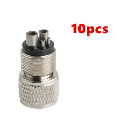 10x 2 HOLE Dental low high Handpiece Tubing Adapter Connector Changing to 4 Hole