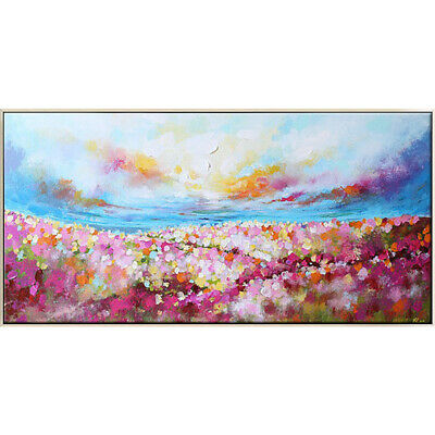 VV680 Modern large Hand painted Flowers and Plants oil painting canvas
