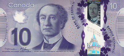 CANADA $10 Unc 2013 BEAUTIFUL POLYMER NOTE!