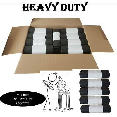 HEAVY DUTY Black Refuse Sacks Strong Thick 160G Rolls Rubbish Bags Bin Liners
