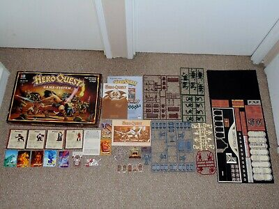 1990 Milton Bradley Hero Quest Board Game Complete Partially Unused HeroQuest
