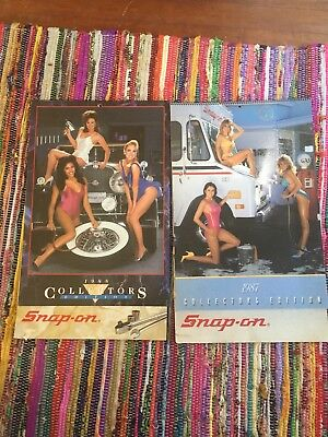 Pair Of 1986 - 87 Collectors Edition Snap-On Tools Pinup Girl Model Calendar