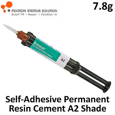 Pentron Breeze Dental Self-Adhesive Resin Permanent Cement A2 Shade 7.8gr