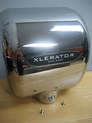 Used Excel Xlerator Commerical Chrome Hand Dryer Xl-C 110/120 V Tested Works
