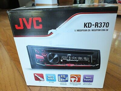 JVC 1-DIN Car Stereo CD Player Receiver with Aux in & Detachable Face | KD-R370