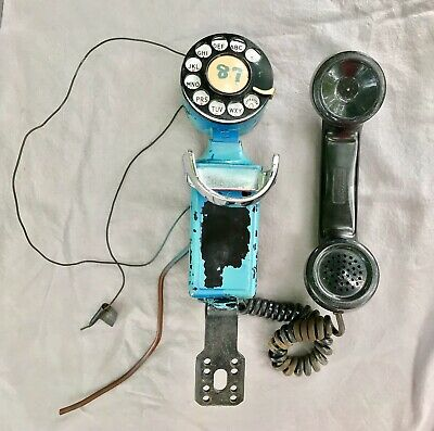 Vintage Military BELL SYSTEMS G6 43A WESTERN ELECTRIC C1 Wall Phone Space saver