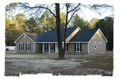 Ranch House Plans 1673 SF 3 Bed 2 Bath Split BR Open Floor (Blueprints) #1007