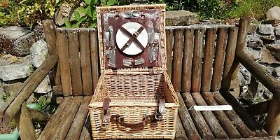 Wicker Picnic Basket never been used, cutlery still wrapped, holiday or travel