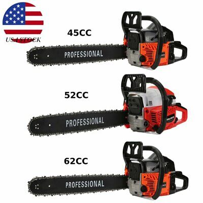 45cc/52cc/62cc Chainsaw Gasoline Powered Cutting Wood Gas Chain Saw 2 Stroke TN