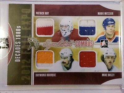 ITG Decades 1980s - Roy / Messier / Bourque / Bossy - Gold Version 1/1