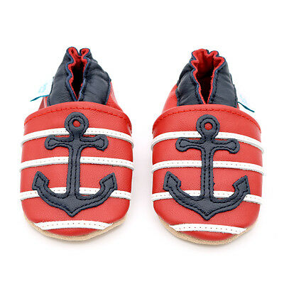 Dotty Fish Soft Leather Baby & Toddler Shoes - Anchor - 0-6 Months - 2-3 Years