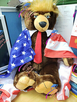 "HOT!!! Donald Trump Teddy Bear Make The American Great Again 24"" Doll"
